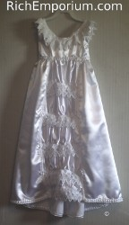 infant's 1948 baby christening gown historical reproduction clothing