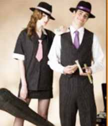 bonnie and clyde couple historical roleplaying costume clothing