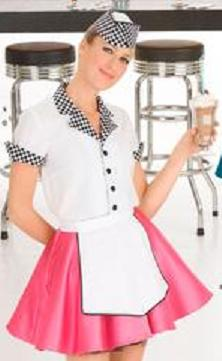 carhop miss women adult historical roleplaying costume