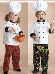 chef twins childrens roleplaying fantasy costume