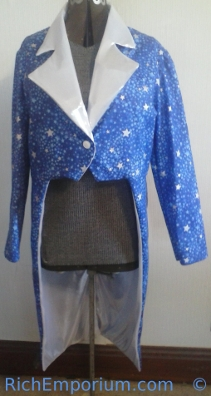 Chorus Line Dancer costume Jacket with tails
