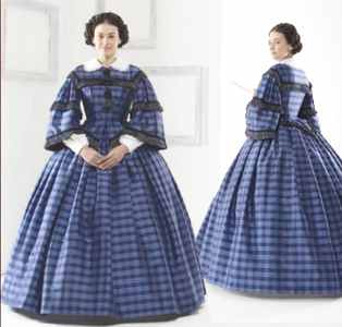 Civil Clothing Womens Daydress, circa 1861 h...