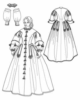 clara barton dress detail historical roleplaying fantasy costume