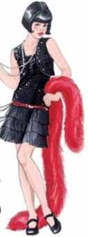 girl flapper teen historical roleplaying fantasy costuem