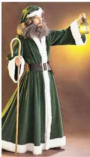 mens father christmas historical roleplaying costume