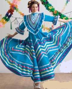 misses folklorico dancer traditional roleplaying fantasy costume clothing