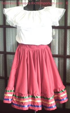 Folklorico de Tabasco Dancer costume traditional dress