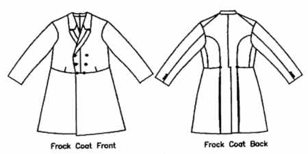 frock coat men man historical roleplaying costume clothing