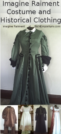 Go to Imagine Raiment your source for Costume and Historical Clothing