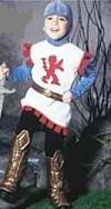 knight child roleplaying costume
