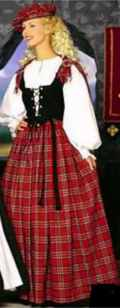 miss scottish lassie roleplaying fantasy costume