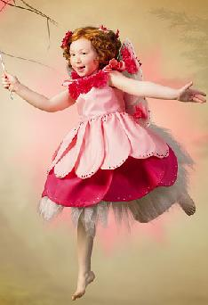 little miss rosebud child roleplaying costume