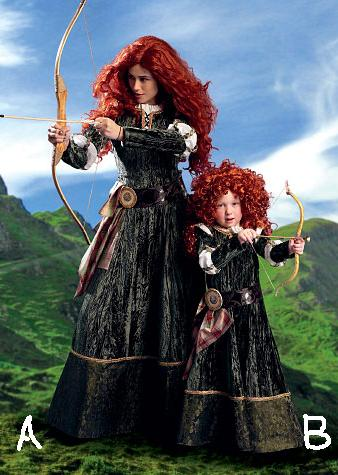 merida brave roleplaying costume