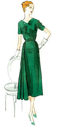 misses women 1951 dress historical costume