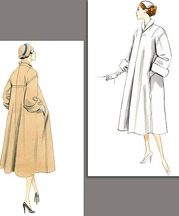 misses 1953 coat historical roleplaying costume