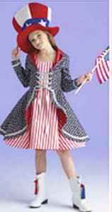 miss firecracker childrens roleplaying fantasy fourth of july patriotic costume