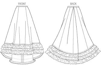 nellie bly roleplaying costume detail skirt