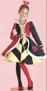 queen of hearts girl roleplaying fantasy halloween costume