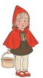very little red riding hood toddler roleplaying halloween costume