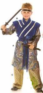 samarai kid child japanese historical roleplaying halloween costume