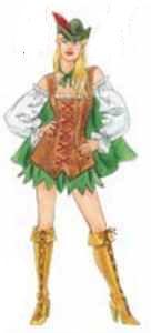 saucy robin hood roleplaying fantasy adult costume