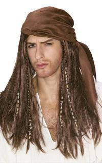 pirates of the caribbean mens wig historical roleplaying fantasy costume accessory
