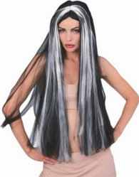 wig witch streaked grey roleplaying fantasy halloween costume